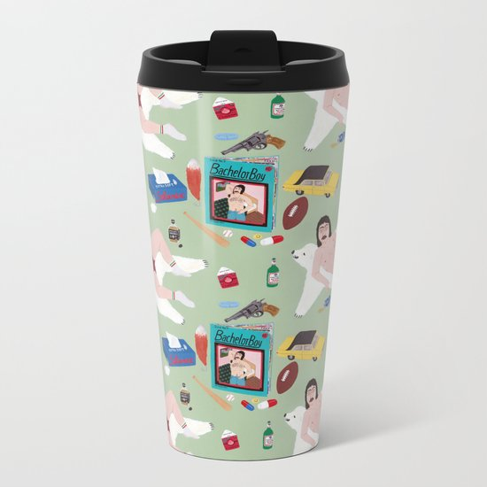 Sexy Bachelor Pattern Metal Travel Mug