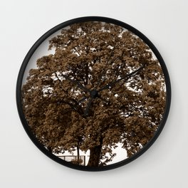 Majestic Tree - Sepia Wall Clock