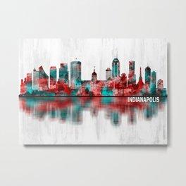 Indianapolis Indiana Skyline Metal Print