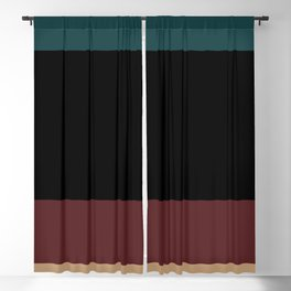 Contemporary Color Block XII Blackout Curtain