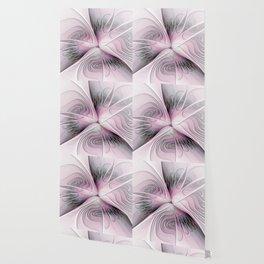 Fantasy Flower, Pink And Gray Fractal Art Wallpaper