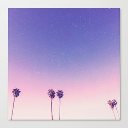 Peachy Purple Palms Canvas Print