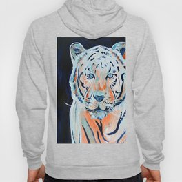 Blue and Orange Tiger Hoody