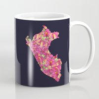 peru Mugs featuring Peru by Ursula Rodgers