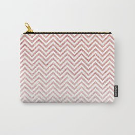 Stylish chic faux pink glitter chic chevron Carry-All Pouch