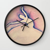 ballerina Wall Clocks featuring Ballerina by ArtSchool