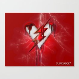 Cupids Bolt - Heartbeat of the Flash Canvas Print