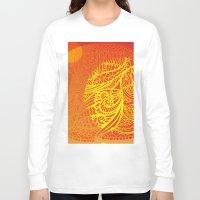 orange pattern Long Sleeve T-shirts featuring Orange Pattern by RifKhas