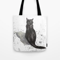 black cat shadow Tote Bag