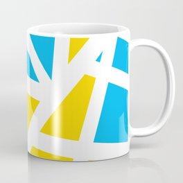 Abstract Interstate  Roadways Aqua Blue & Yellow Color Coffee Mug