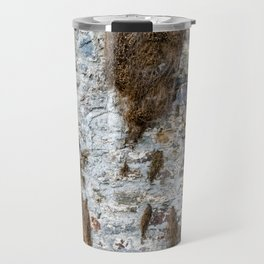Stone Wall Structure with dried up Plants Travel Mug