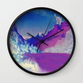 Hardangerfjord Night Wall Clock