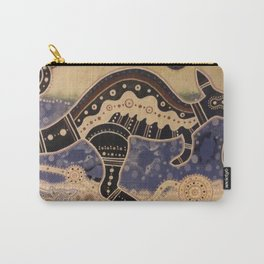 Kangaroo mural Carry-All Pouch