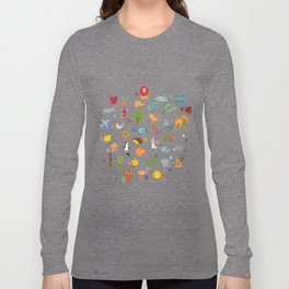 Armenian Alphabet Long Sleeve T-shirt