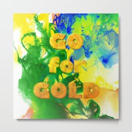 Go for Gold - Olympic Games Rio de Janeiro, Brazil - Living Hell Metal Print