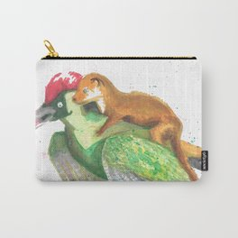 Weasel Rides Woodpecker  Carry-All Pouch
