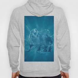 Abstract water South American sea lion Hoody