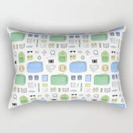 Happy Travels Rectangular Pillow