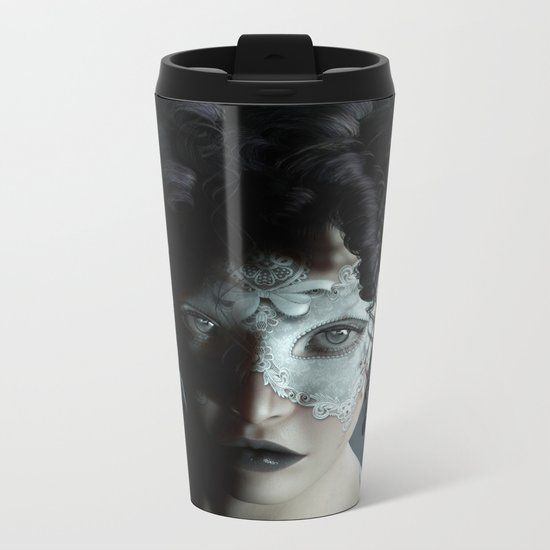 Midnight masquerade Metal Travel Mug