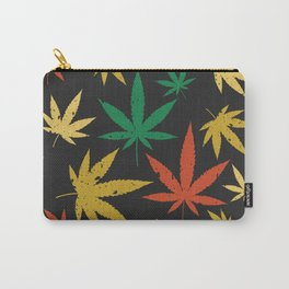 Cannabis Leaf Pattern Carry-All Pouch