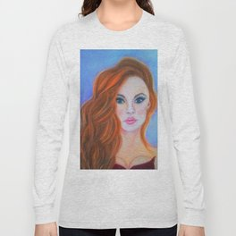 Glamorous Redhead Jessica Rabbit Long Sleeve T-shirt