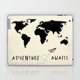 Adventure Map - Vintage Black Laptop & iPad Skin
