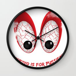 sleeping is for pussies Wall Clock