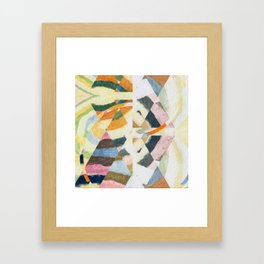 abstract color play Framed Art Print