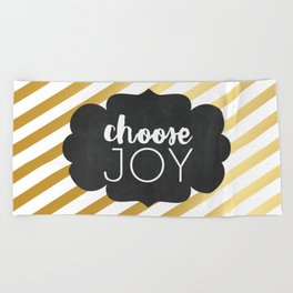 Choose Joy 01 Beach Towel