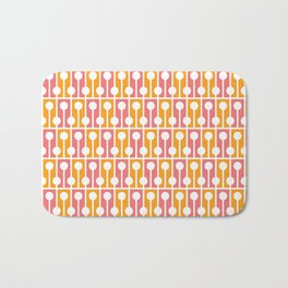 Geometric Pattern 192 (pink orange) Bath Mat