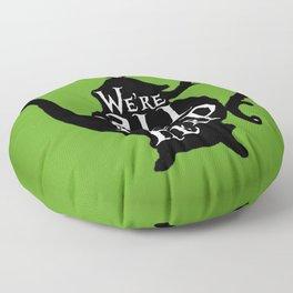 """""""We're all MAD here"""" - Alice in Wonderland - Teapot - 'Garden Green Floor Pillow"""