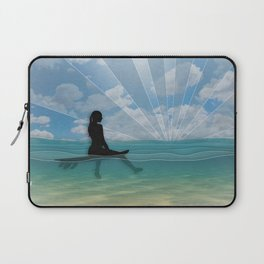 View from a Surfboard Laptop Sleeve