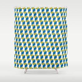 Geometric Box Shower Curtain