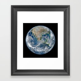 Planet Earth The Blue Marble 2012 Framed Art Print