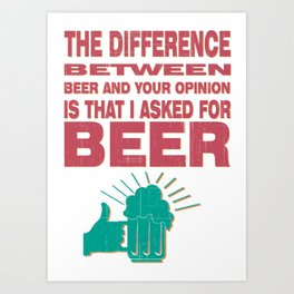 beetween - I love beer Art Print