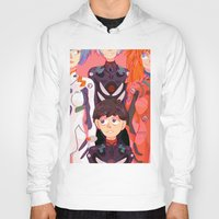 evangelion Hoodies featuring Evangelion Kids by minthues