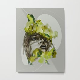 Zoe by carographic, Carolyn Mielke Metal Print