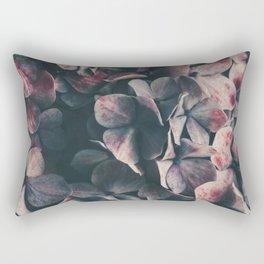 Hydrangea Flowers - Moody Blues Rectangular Pillow