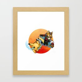 Quick Attack Framed Art Print