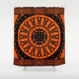 Ancestors (Orange) Shower Curtain