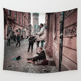 Floating Man Wall Tapestry