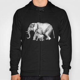 Elephant Momma and Baby Tag-a-long Hoody