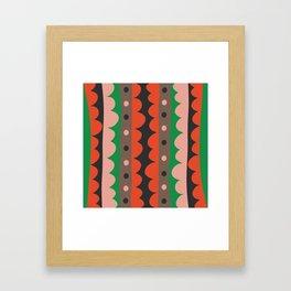 Rick Rack Garden Framed Art Print