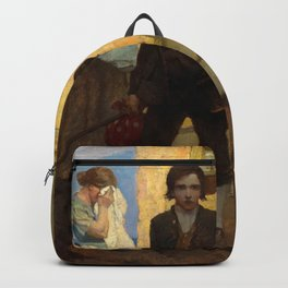 Jim Hawkins leaves home - I said good bye to my mother and the cove by Newell Convers Wyeth Backpack
