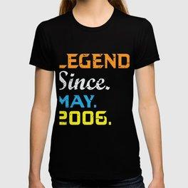 Legend Since May 2006 Shirt 13th Birthday Gift T-shirt