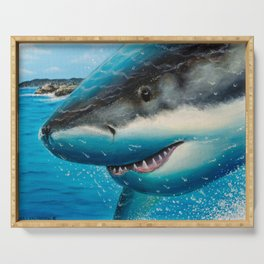 Mossel Bay Shark Breach Serving Tray