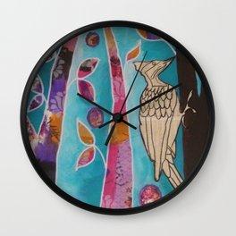 Woodpecker Music Wall Clock
