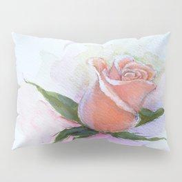 A Peach Rose Pillow Sham