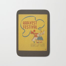 Vintage American WPA Poster - Harvest Festival on the Mall, Central Park (1936) Bath Mat