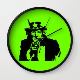Neon Green Uncle Trump Needs You Wall Clock